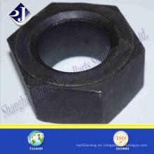 Tuerca hexagonal negra para el campo de gas de petróleo
