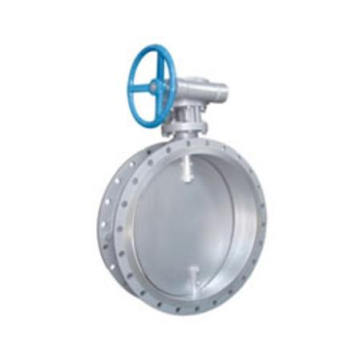 worm gear /turbine drive double eccentric butterfly valve