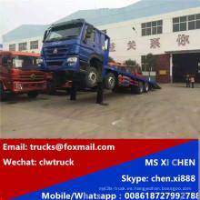 8 x 4 HOWO Sinotruk hidráulico auto carga camión de cama baja