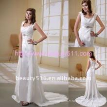 Astergarden photo réelle Sashed Trailing dentelle robe de mariée AS043