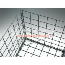 El alambre galvanizado de 4m m soldó con autógena la caja de la cesta del gabion 50x50x100cm con la conexión del resorte