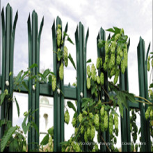 2.1m high palisade security fencing powder coated green or black