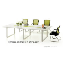 Sala de conferencias o mesa de reuniones modular de madera MFC de color blanco