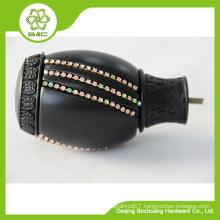 16/19mm decorative curtain rod end caps