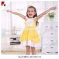 Girl summer sleeveless doll collar yellow dress