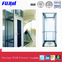 ISO9001 Glass Sightseeing Passenger Elevator Home Lift Villa Elevator