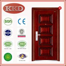 Puerta de seguridad de acero de alta calidad KKD-336 abre hacia adentro o hacia afuera