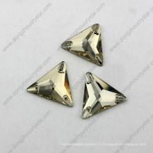 Chine prix de gros plat dos triangle coudre sur strass pour vêtement