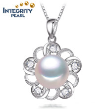 New Arrival Latest Design 10-11mm AAA Bread Round Real Freshwater Pearl Pendant