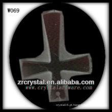 colar de cristal cruzado W069