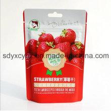 Bolsa de comida para frutas secas Ziplock aprobada y de pie con bolsa de SGS