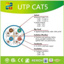 Câble réseau Cat5e d'usine de câble de UTP de crimp avec ETL / RoHS