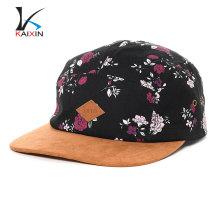 Тиснением цветочные цветок печать 5 панели шапки и шляпы с кожаным патч