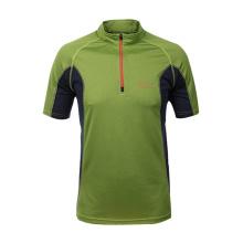 Günstige Polyester-Trocken-Fit-Polo-Shirt mit halber Zip