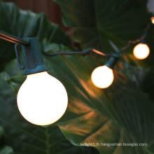 Guirlande lumineuse LED Globe G40 de couleur blanche