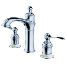 Bathtub faucet doubld handle deck mount chrome