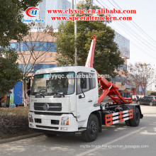 Dongfeng kingrun 10m3 hydraulic lifter garbage truck for sale