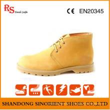 Желтый нубук кожа и Goodyear Рант защитная обувь RS733