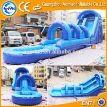 Nuevo tobogán inflable de la diapositiva inflable 0.55mmPVC del resbalón n del agua del airtech del estilo para la venta
