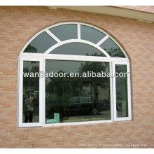 foshan wanjia usine vente chaude pvc arch fenêtre
