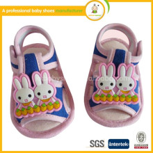 Chaussures Girls Promotion Offre spéciale Canvas Tpr Bordered Hook & Loop Summer 2014 Mode Cartoon Cute Baby Sander Shoes