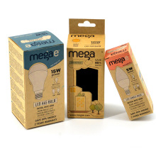Wholesale Small Color Printed Kraft Paper Packing Cardboard Light Bulb Box Packaging Design with Custom Logo