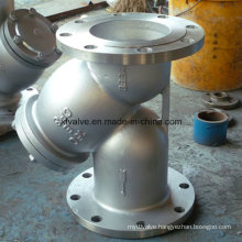 Cast Stainless Steel CF8 Flange/Flanged End Y Type Strainer
