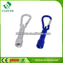 Promotion cadeau mini lampe d'aluminium avec mousqueton