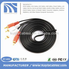 2-RCA Male to 2-RCA Male Dual Stereo AV Cable Audio Video Cable Cord