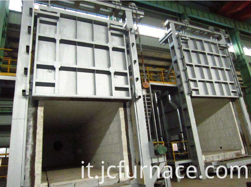 High hermetic trolley type annealing furnace