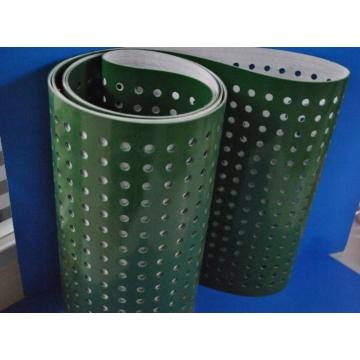 PVC Conveyor belt dengan lubang-lubang Punching