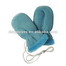 Guantes encantadores de piel de cordero de la muchacha (DSX-F003)