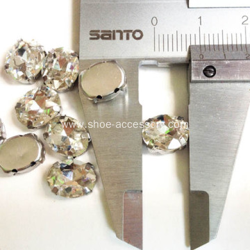 Oval-Shaped Sew-On Jewel With Setting
