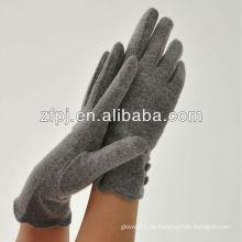 Mode Frauen einfach Stil Handgelenk dicke Wolle Handschuhe mit Polyester Fleece Futter