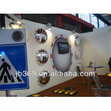 safety convex mirror with reflective frame