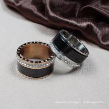Destino joias cristal de Swarovski anel de cerâmica