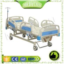Krankenhaus CE genehmigt 3 Kurbeln manuelle Krankenhausbett, 3 Funktionen Krankenhaus manuelle Bett, Krankenhaus Bett Matratze für den Verkauf