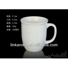 KC-90754eco ware white porcelain coffee mug,10oz tea mug