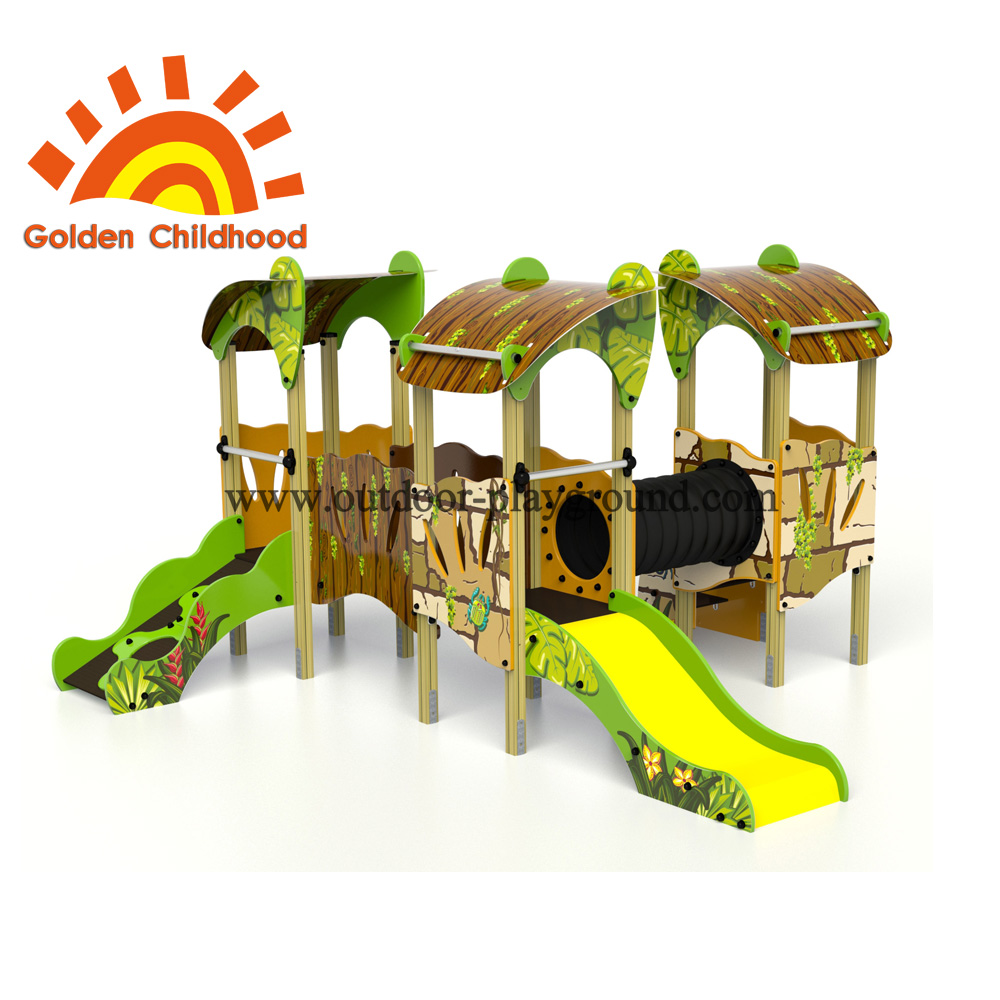 Colourful Tube Bridge Outdoor Playground Equipment For Children