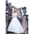 Высокое Качество Тяжелых Вышитый Бисером Бальное Платье Свадебное Платье
