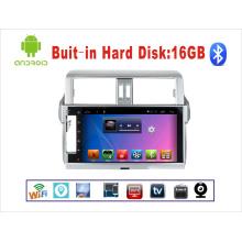 Sistema de Android de navegación GPS de coches de DVD para Toyota Prado 10,1 pulgadas de pantalla táctil con WiFi / TV / USB
