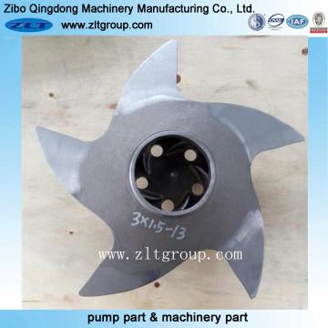 Bronce / titanio / aleación de acero / acero inoxidable Impulsor de la bomba Durco