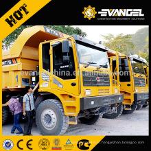 O caminhão basculante 50Ton da mineração de LGMG MT76 avaliou a carga com preço barato