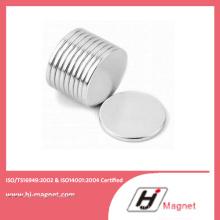 Aimant de NdFeB de disque personnalisé avec ISO 14001