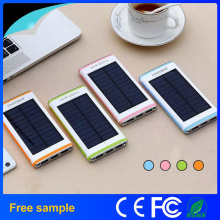 Waterproof Flashlight Portable Solar 12000mAh Power Bank