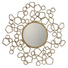 Creative Round Metal Framed Wall Decorative Mirror / Antique Gold Mirror Frame