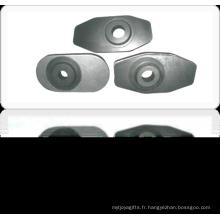 Plaque de glissière brûlante Al2O3-C/Al2O3-ZrO2-C pour poche