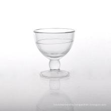 Unique Design Ice Cream Glass with Cold Liquid