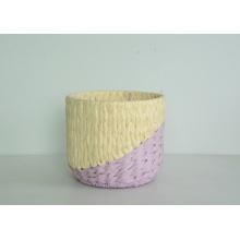 vaso de flores de corda de papel redondo de dois tons