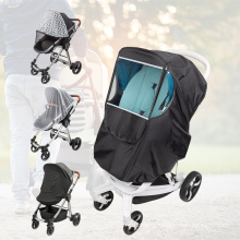 2021 New Universal Windproof Waterproof Dust Protection Stroller Rain Cover Baby Travel Weather Shield